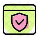 Browser Protection Browser Check Website Approve Icon