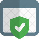 Browser Check Protection Icon
