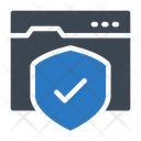 Webpage Protection Internet Icon
