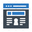 Webpage Browser Security Icon