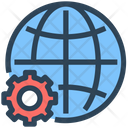 Seo Web Global Icon