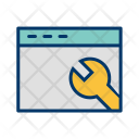Browser Settings Wrench Icon