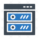 Browser Server Storage Icon