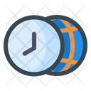 Browser Time Time Word Icon