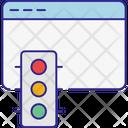 Internet Seo Traffic Icon