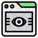 Visiblity Eye Page View Icon
