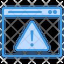 Browser Warning Browser Alert Browser Error Icon