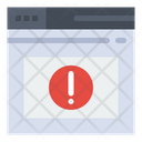 Browser Warning Browser Alert Error Icon