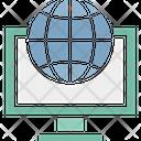 Browsing Globe Lcd Icon