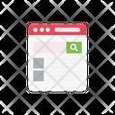 Webpage Browsing Internet Icon