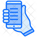 Browsing Smartphone Hand Icon