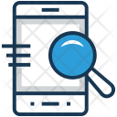 Browsing Magnifier Smartphone Icon