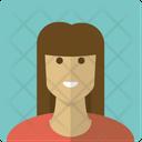 Brunette Girl Woman Icon