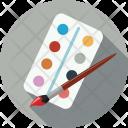 Brush Colors Watercolor Icon