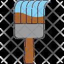 Flat Brush Brushwork Icon