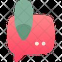 Cosmetics Bubble Text Icon