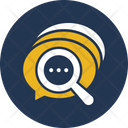 Bubble Chat Bubble Magnifying Icon