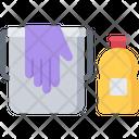 Bucket Glove Dishwashing Icon