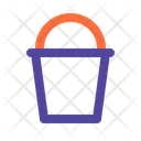 Bucket Cleaning Pail Icon