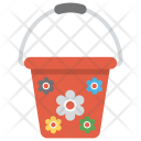 Bucket Colorful Red Icon