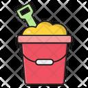 Bucket Shovel Mid Icon
