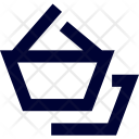 Hand Cart Double Basket Icon