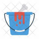 Bucket Blood Halloween Icon