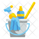 Bucket Cleaning Wash Icon