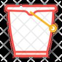 Bucket Plastic Color Icon
