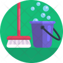 Bucket Water Soapy Water Icon