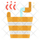 Bucket Sauna Relax Icon
