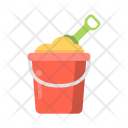 Bucket Shovel Castle Icon