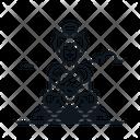 Line X Buddha Icon
