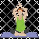 Buddha Style Yoga Aerobics Stretch Muscle Icon