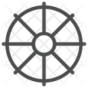 Wheel Religion Dharma Icon