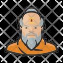 Buddhist Monk Beard Icon