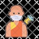 Buddhist Man Vaccination Icon
