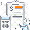 Budget Accounting Finance Calculation Icon