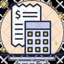 Budget Calculator Tax Form Icon