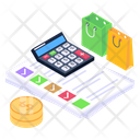 Accounting Budget Shopping Budget Icon