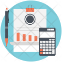 Budget Bookkeeping Accounting Icon