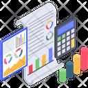 Budget Analytics Report Icon