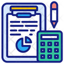 Budget Calculation Business Budget Accounting Icon