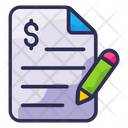 Finance Business Document Icon