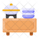 Food Counter Buffet Restaurant Icon