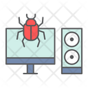 Infected Computer Virus Icon