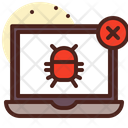 Bug Virus Laptop Bug Icon