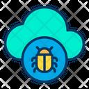 Bug Cloud Icon
