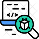 Static Code Analysisv Bug Finding Code Icon