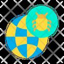 Bug Globe Icon
